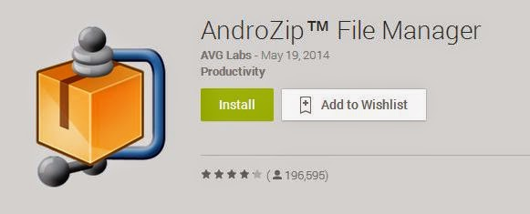 buka file RAR ZIP android androzip app